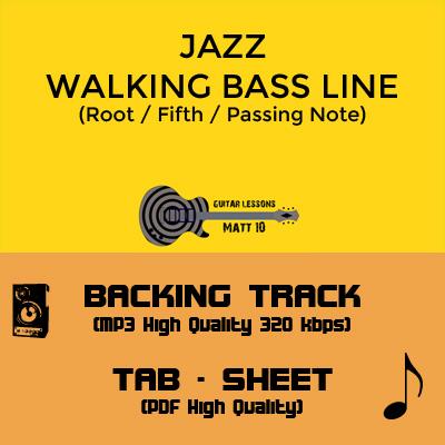 Jazz Walking Bass Line - Backing Track & TAB