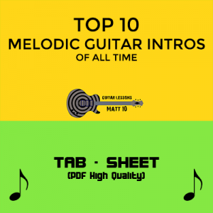 TOP 10 MELODIC GUITAR INTROS OF ALL TIME - GUITAR BOOK